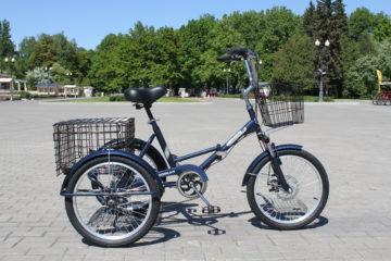 Doonkan Trike 20 синий электрический складной велосипед дункан трайк трицикл грузовой (3)