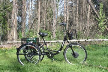 Электровелосипед трицикл Doonkan Trike 24 Трехколесный велосипед для взрослых складной 500w (83)