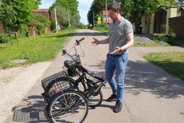 Электровелосипед трицикл Doonkan Trike 24 Трехколесный велосипед для взрослых складной 500w (11)