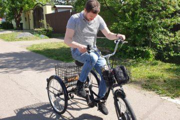 Электровелосипед трицикл Doonkan Trike 24 Трехколесный велосипед для взрослых складной 500w (18)