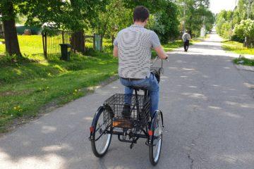 Электровелосипед трицикл Doonkan Trike 24 Трехколесный велосипед для взрослых складной 500w (20)