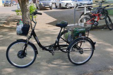 Электровелосипед трицикл Doonkan Trike 24 Трехколесный велосипед для взрослых складной 500w (22)