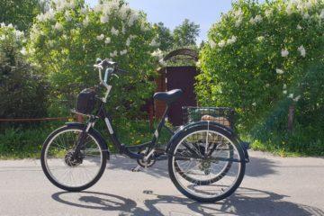 Электровелосипед трицикл Doonkan Trike 24 Трехколесный велосипед для взрослых складной 500w (28)
