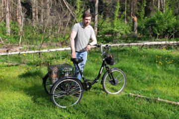 Электровелосипед трицикл Doonkan Trike 24 Трехколесный велосипед для взрослых складной 500w (57)