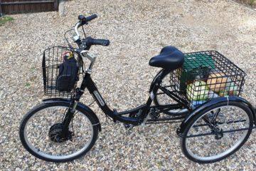 Электровелосипед трицикл Doonkan Trike 24 Трехколесный велосипед для взрослых складной 500w (74)