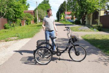 Электровелосипед трицикл Doonkan Trike 24 Трехколесный велосипед для взрослых складной 500w (9)