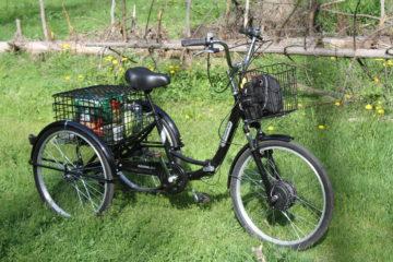 Электровелосипед трицикл Doonkan Trike 24 Трехколесный велосипед для взрослых складной 500w (91)