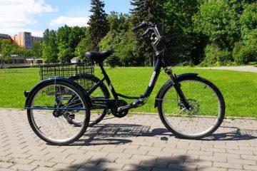 Трайк байк Дункан Doonkan Trike 24 складной трехколесный велосипед для взрослых (14)