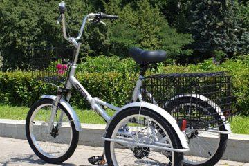 Трехколесный велосипед для взрослых взрослый для взрослого складной Трицикл Doonkan Trike 20 (10)